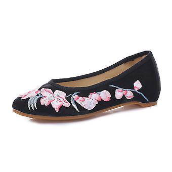 Alte Peking Tuch Schuhe Sommer National Style bestickt Schuhe erhöht innerhalb Square Dance Schuhe Mama Vintage Schuhe Qingye