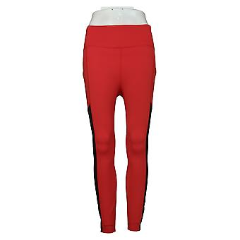 MIND BODY LOVE by Peace Love World Petite Leggings Color-Blocked Red A391887