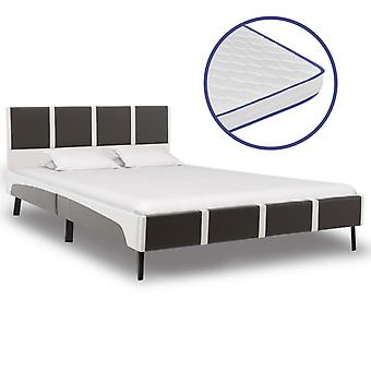 vidaXL bed with memory foam mattress synthetic leather 120×200cm