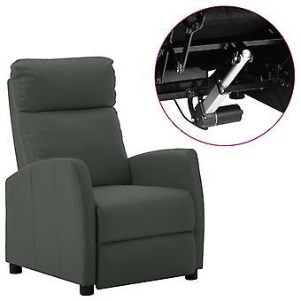 vidaXL الكهربائية كرسي قابل للتعديل رمادي فو الجلود