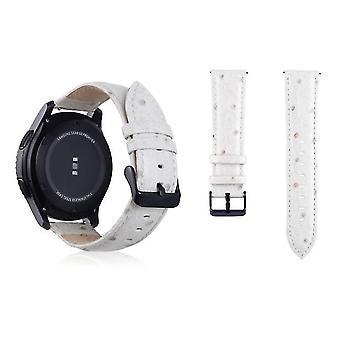 Cinturino da polso in vera pelle per Samsung Gear S3 22mm bianco