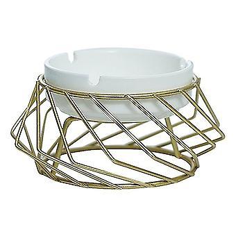 2021 Fashion Retro Style Geometric Creative Ashtray Glossy Ceramic Modern Home Decor Ashtray Holder