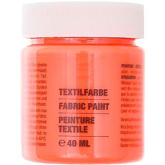 Neon röd tygfärg för lätta tyger - 40ml