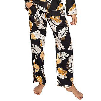 Cyberjammies Annie 4914 Women's Black Leaf Cotton Pyjama Pant