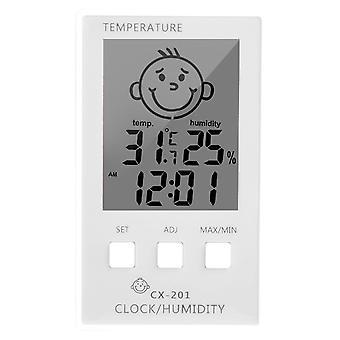 Digital Clock Temperature Hygrometer Logger Meter