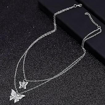 Small Animal Butterfly Stars Chain Necklaces Clavicle Jewelry Accessories(Style 22)