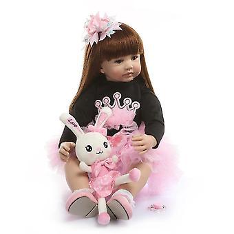 Genfødsel dukke 60cm silikone genfødt baby dukke legetøj som ægte vinyl prinsesse småbørn babyer dukker piger bonecas fødselsdagsgave legehus sød gave