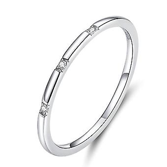 Simple Minimalist Finger Rings for Women Silver plating Stackable Band Fashion Jewelry_8