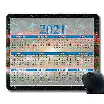 Keyboard mouse wrist rests 260x210x3 colorful year 2021 calendar mouse pad gaming mouse pad veil nebula star cluster starry