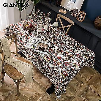 مفارش المائدة 90cm القماش الجدول الزخرفية القطن bohemia مفارش المائدة طاولة الطعام تغطي رف |السفار