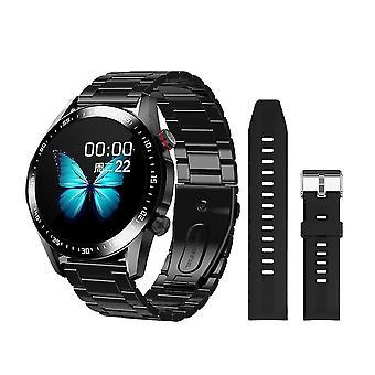 Inteligentny zegarek i tracker fitness dla mężczyzn z rozmowami bluetooth, niestandardowym pokrętłem, pełnym ekranem dotykowym,