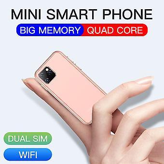 מיני אנדרואיד 6.0 טלפונים סלולריים עם 3d זכוכית רזה טלפון חכם גוגל לשחק שוק HD מצלמה כפול Sim מרובע ליבה Uniwa Xs11