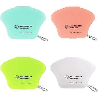 4-piece Mask Storage Box-dustproof And Safe