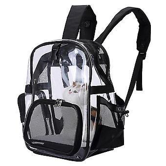 Portable Folding Small Cats Dog Carry Bag Kitten Carrier Mesh Breathable Transparent Pet Backpack Outdoor Travel Bag