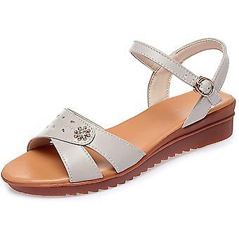 kvinners klassiske ankel spenne åpen-toed strand sandaler pustende slip