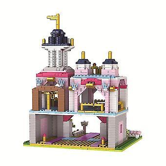 銭城ビルディングブロックパズルマイクロ3Dフィギュア教育レンガおもちゃ