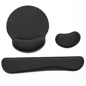 Memory Foam Tangentbord Handledsstöd Musmatta Mus Handledsstöd Set