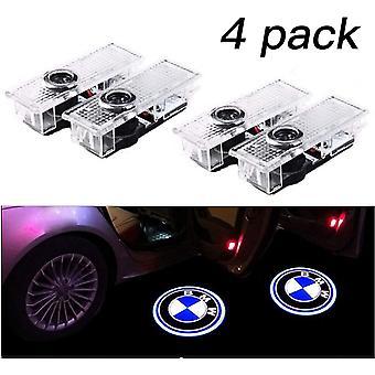 4 Pieces Car Door Lights Led 3d Car Light Bmw Entrance Lighting Welcome Projector Lamp Logo Light