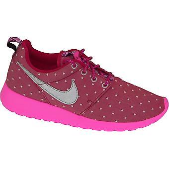 Nike Rosherun печать Gs 677784-606 детей кроссовки