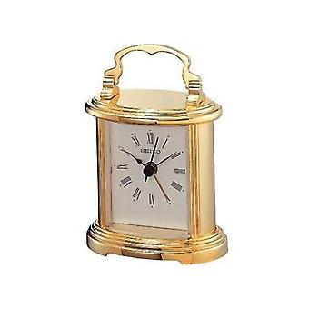 Seiko QHE109G Gold Signalton Alarm Kaminuhr