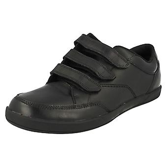 Mens Clarks Riptape riem bevestigd slimme schoenen Frontside Spin