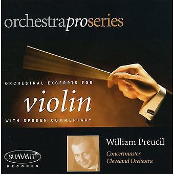 William Preucil - orkestral uddrag ved Violin [CD] USA import