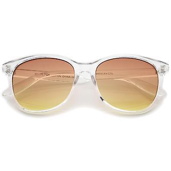 Cadre clair moderne dégradé lentille plate corne Rimmed lunettes de soleil 55mm