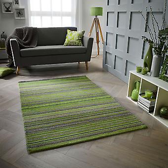 Carter grön rektangel mattor Plain/nästan slätt mattor
