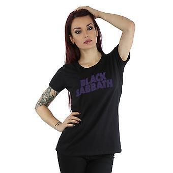 En détresse Logo T-Shirt Black Sabbath féminines
