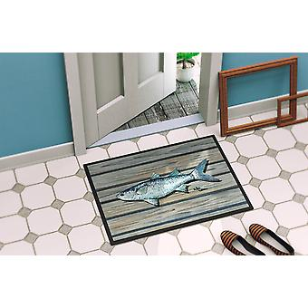 Carolines Treasures  8490-MAT Fish Mullet Indoor or Outdoor Mat 18x27 8490 Doorm