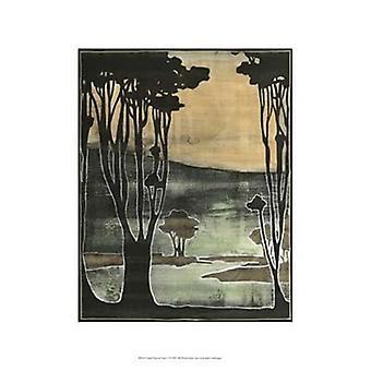 Small Nouveau Trees II Poster Print by Jennifer Goldberger (13 x 19)