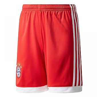 2017-2018 Bayern Munich Adidas Home Shorts (Red) - Kids