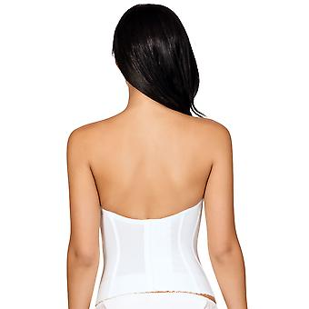 Parfait P5017 Women's Elissa Pearl White Underwired Corsetted Top Low-Back Bustier