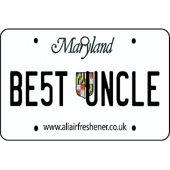 Maryland - Best Uncle License Plate Car Air Freshener