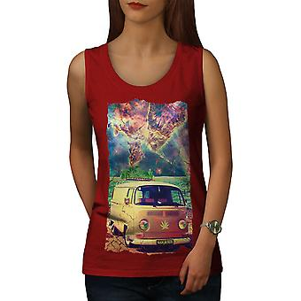 Ganja Bus Camping Frauen RedTank Top | Wellcoda
