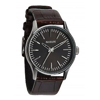 Nixon The Sentry 38 Leather Brown Gator (A3771887)