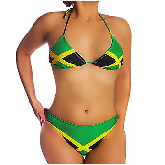 Jamaican Flag String Bikini Jamaica Swimsuit U.S. Junior`s Sizes