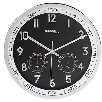 Techno Line WT 7981 Quartz Wall clock 300 mm x 5 cm Chrome