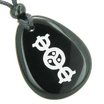 Tibetanske RDO RJE Buddha kosmisk energi åndelige Amulet sort Onyx Totem perle sten halskæde vedhæng