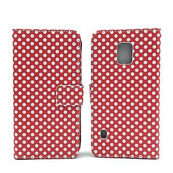 Matkapuhelin tapauksessa pussi mobiili Samsung Galaxy S5 aktiivinen pilkullinen punainen