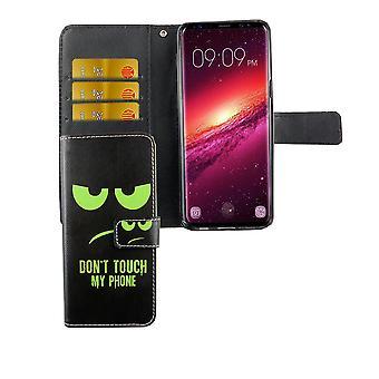 Matkapuhelin tapauksessa pussi puhelimeen Samsung Galaxy S9 Älä koske puhelimeen vihreä