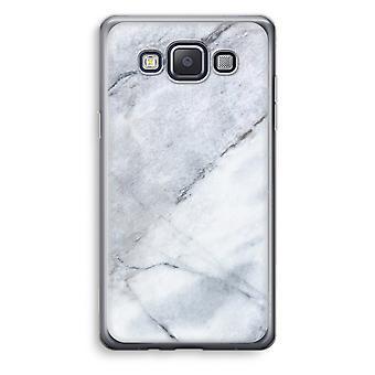 Samsung Galaxy A3 (2015) gjennomsiktig sak (myk) - marmor hvit