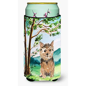 Under the Tree Norwich Terrier Tall Boy Beverage Insulator Hugger
