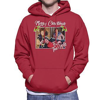 「ホフメンズフード付きスウェットシャツ」のデビッド・ Hasselhoff のメリー・クリスマス