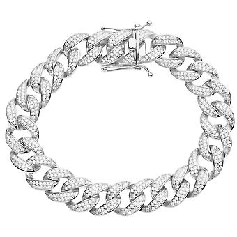 Premium Bling 925 sterling silverarmband - MIAMI CURB 14mm