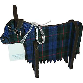Highland Cow 3D Standing Medium Glen Check par Art Cuts