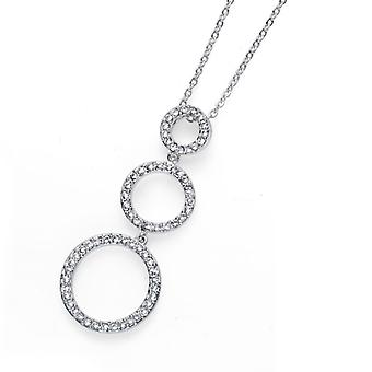 Oliver Weber Pendant Expand Rhodium Crystal