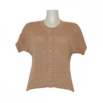 Oui Knit Button Cardigan With Short Sleeves