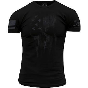 風幽霊死神クルーネック t シャツ-黒のうなり声します。