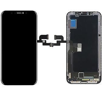 • Visor LCD OLED para iPhone X / 10 peças de reposição do toque do preto unidade completa reparação